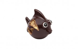 Poisson Chercheur d'or garni chocolat noir