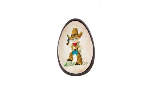 Oeuf Cowboy garni chocolat noir