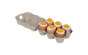 Boîte de 6 œufs coquille naturelle